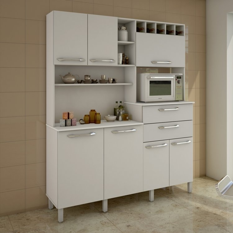 Artesanato Com Tecido De Juta ~ Armário para Cozinha 7 Portas Monte Rey Valdemóveis Branco