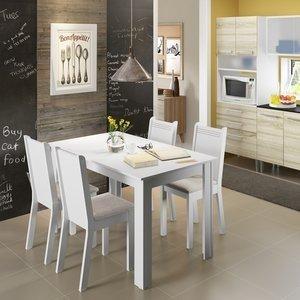 Conjunto de Mesa com 4 Cadeiras Rosie Madesa afbd427474745