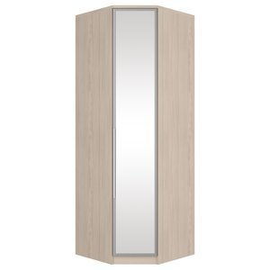 c012261a991c2 Guarda Roupa Casal com Espelho 4 Portas Prateleiras Laterais ...