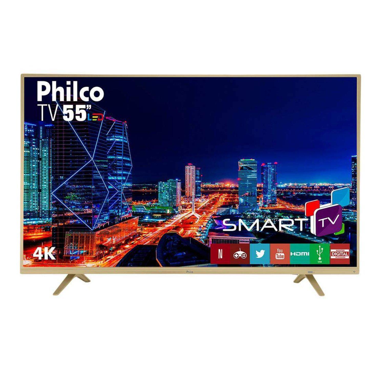 Smart TV 4K 55 Polegadas LED UltraHD PTV55U21DSWNC Philco