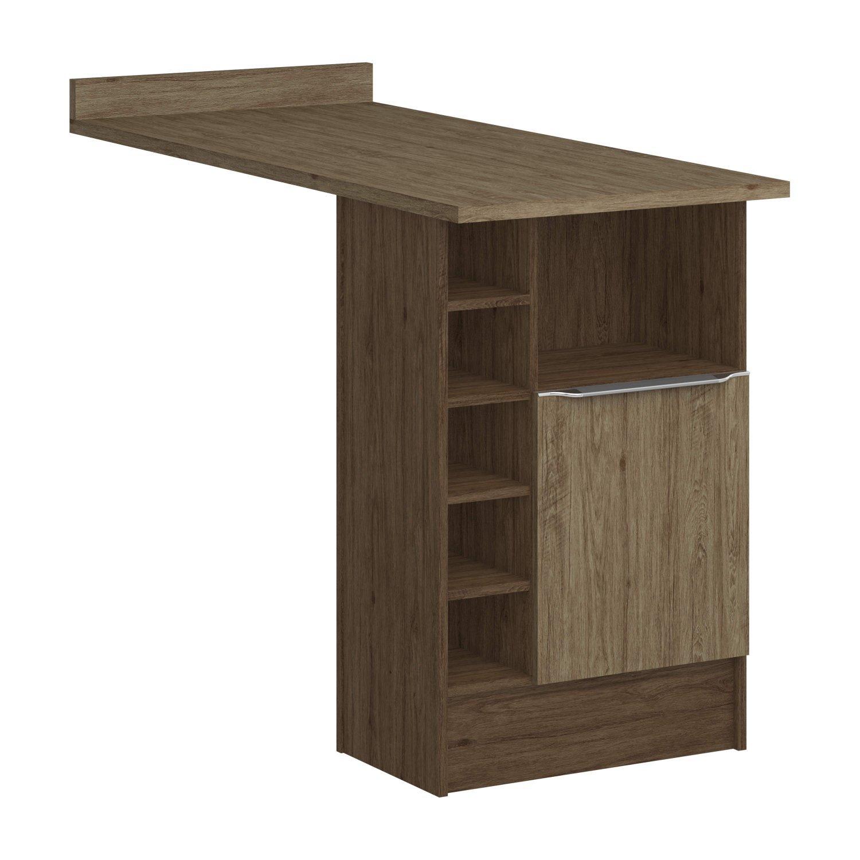 Bancada 1 porta 6 nichos Linha Modulada Lis Decibal Cedro Wood ... 2dc3ece2ca65e