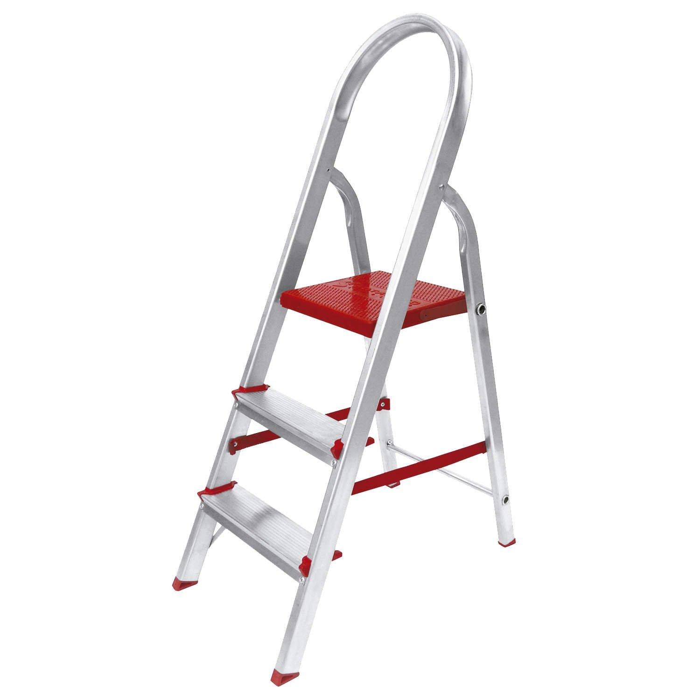 a9a2ee0323 Escada de Alumínio 3 Degraus Suprema Worker - MadeiraMadeira