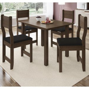 Conjunto Sala de Jantar Mesa 4 Cadeiras Dallas Indekes 8015f0a6cedde