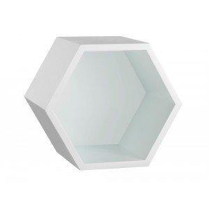 Nicho Hexagonal 1 Prateleira Favo Maxima Branco Azul Noite Rosa ... 6544dd9c1f