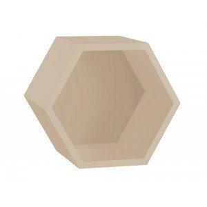 Nicho Hexagonal 1 Prateleira Favo Maxima Branco Bordô Laranja Novo ... a53f379904