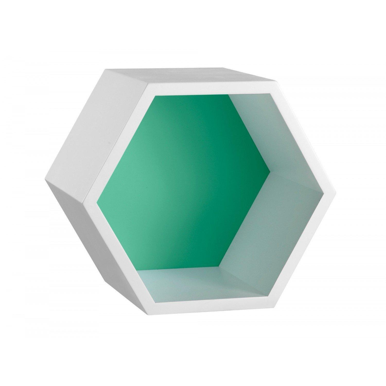 Nicho Hexagonal MDF Favo Maxima Branco Verde Anis - MadeiraMadeira 7caa6b8f76
