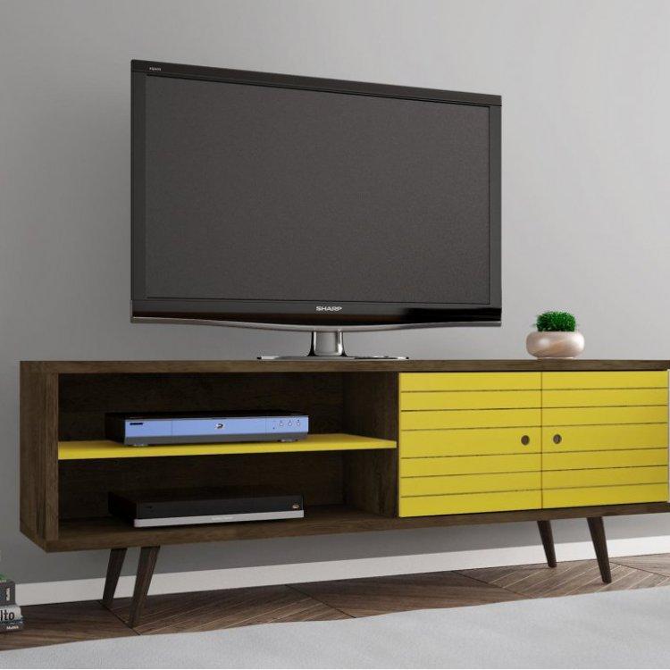 Suficiente Rack para TV até 60 Polegadas 2 Portas Retrô Ônix Móveis Bechara  SG45
