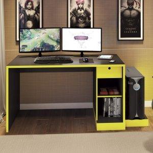 Mesa Para Computador 2 Gavetas Com Nichos C215 Dalla Costa