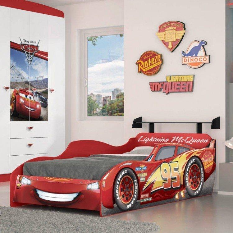 Cama infantil carros disney star 7a pura magia vermelho em - Cama coche infantil ...