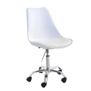 8420bd53c9 Cadeira de Escritório Luísa Cinza Giratória - MadeiraMadeira