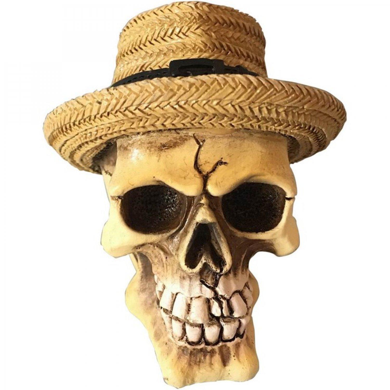 Mini Caveira de Resina Panama Hat 8cm x 7 b4e4d4ff392
