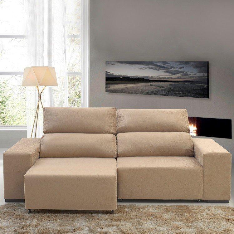 Sof retr til e reclin vel 3 lugares aconchego slin siena for Sofa 7 lugares retratil e reclinavel firenze