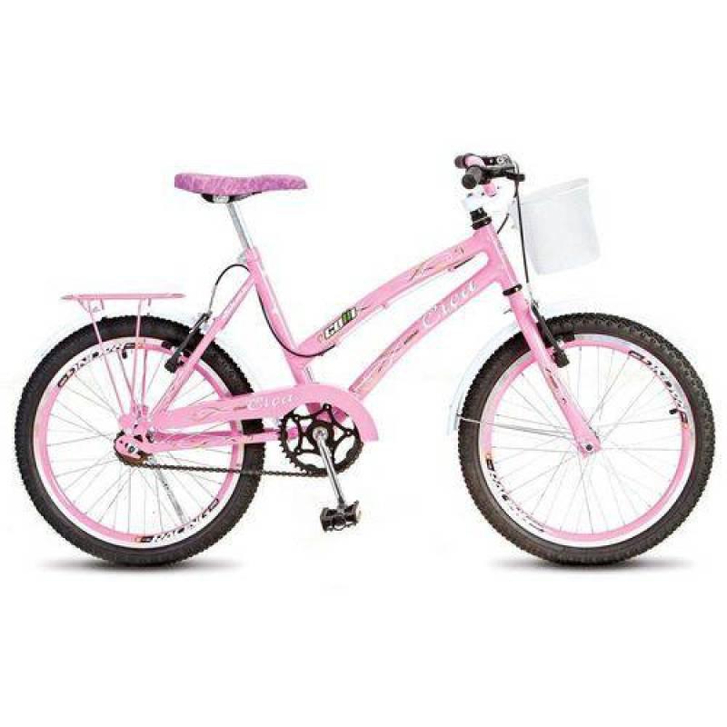a2023d6f8 Bicicleta Colli Ciça Aro 20 com Cesta Freio V-Break 205 09 Rosa
