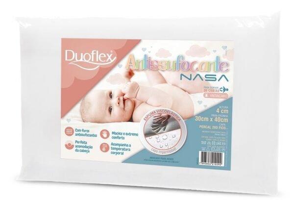 6fe3109150 Travesseiro Antisufocante Nasa Kids Impermeável - Duoflex