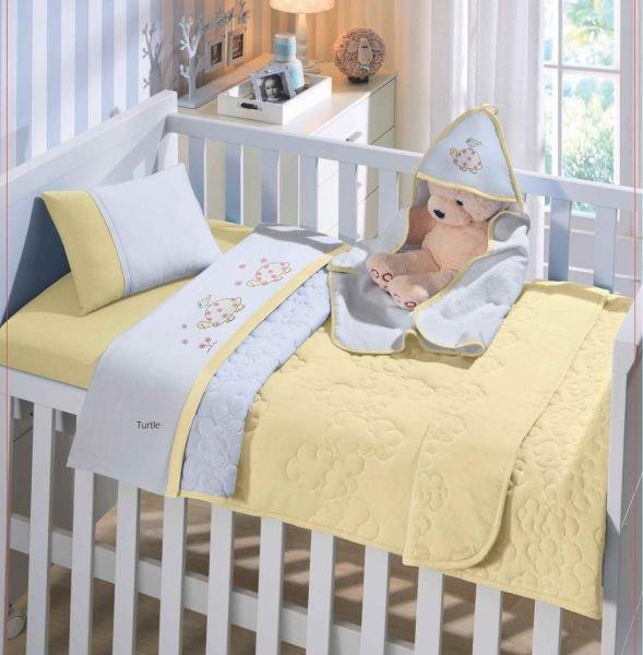5bd80ebd04 Jogo de Lençol de Berço Americano Linha Baby Malha 100% algodão 3 Peças  Buettner -
