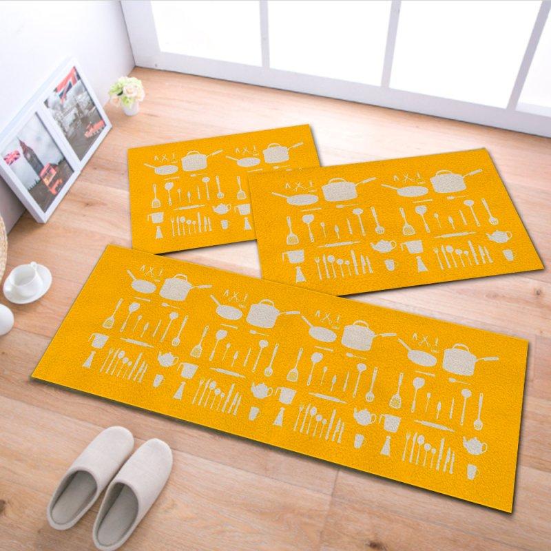 6a64f54d1 Kit Jogo Tapete Cozinha - Yellow 40x120cm acqua - MadeiraMadeira