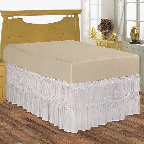 a66a3a8ba Saia para cama box Queen serve para cama baú em Malha Special ...