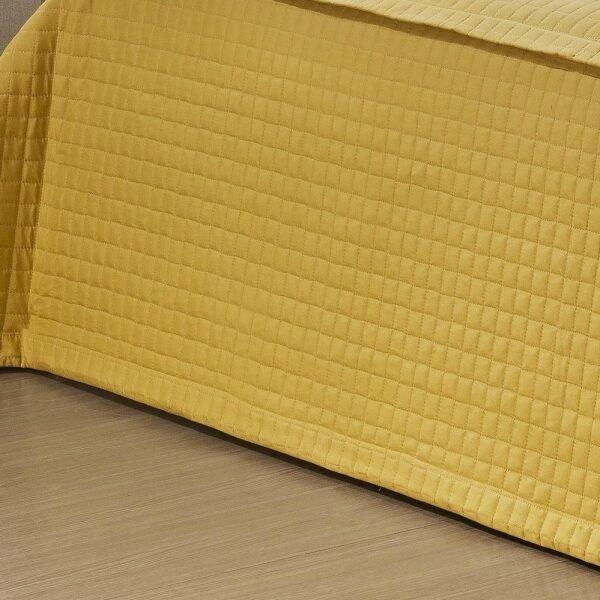 a622d3f05c Kit Casal (Colcha + Almofada + Xale) King Coleção Veneza Amarelo Microfibra  com 6 peças