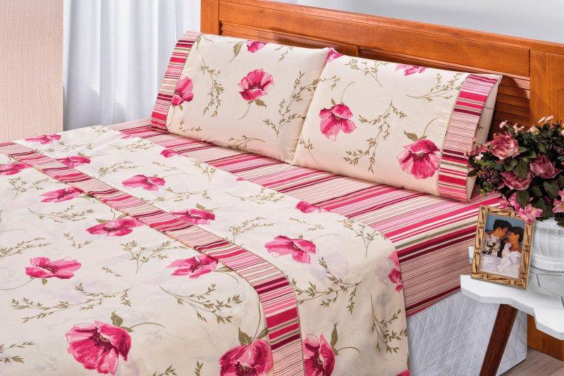 2fd3cc719f Jogo de Cama Requinte Lençol Queen 180fios Est 8 rosa - MadeiraMadeira