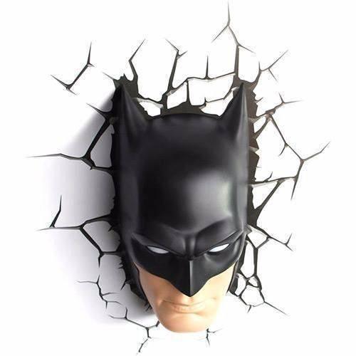 4b11405c35 Luminária De Parede Máscara Rosto Batman DC 3D Light FX - MadeiraMadeira
