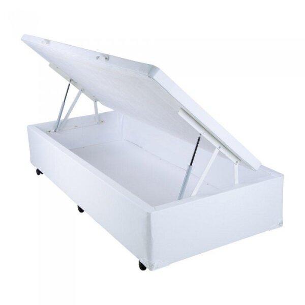 fc7aa484f7 Cama Box Baú Medidas Especiais (Solteiro) Corino ou Sued - Medida Especial  0