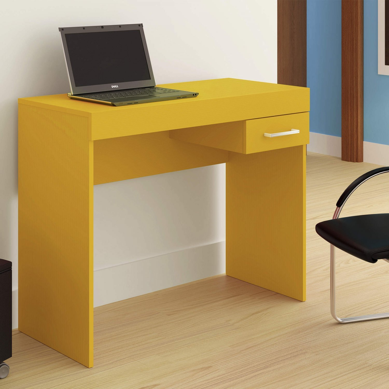c6aa97168 Mesa para Computador com Gaveta Cooler Artely Amarelo - MadeiraMadeira