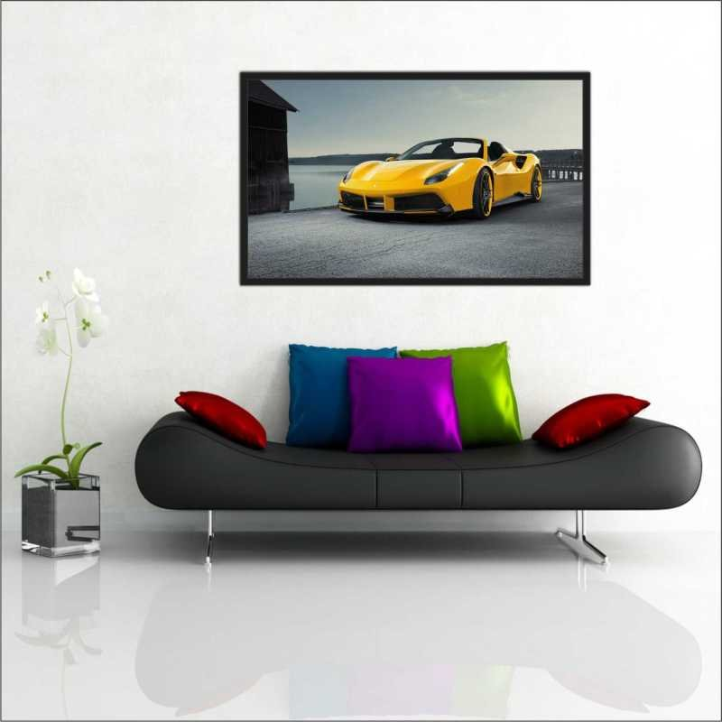 27%. OFF. Quadro Decorativo Carros Ferrari Amarela Com Moldura GG. Quadro  Decorativo Carros Ferrari ... f8d86561423
