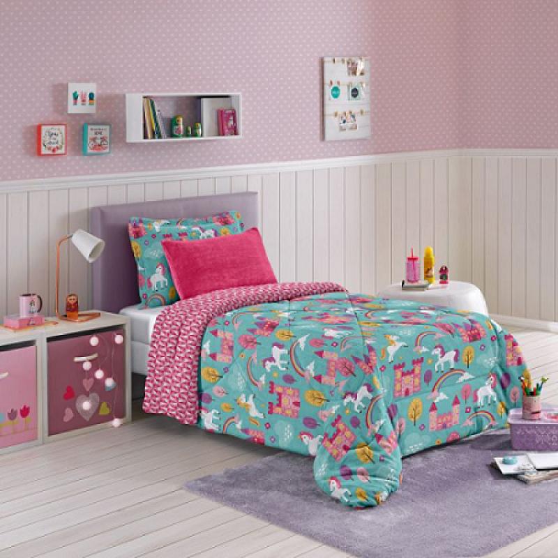 7de733dfe4 Edredom Solteiro Plush Dream Kids Hedrons - MadeiraMadeira