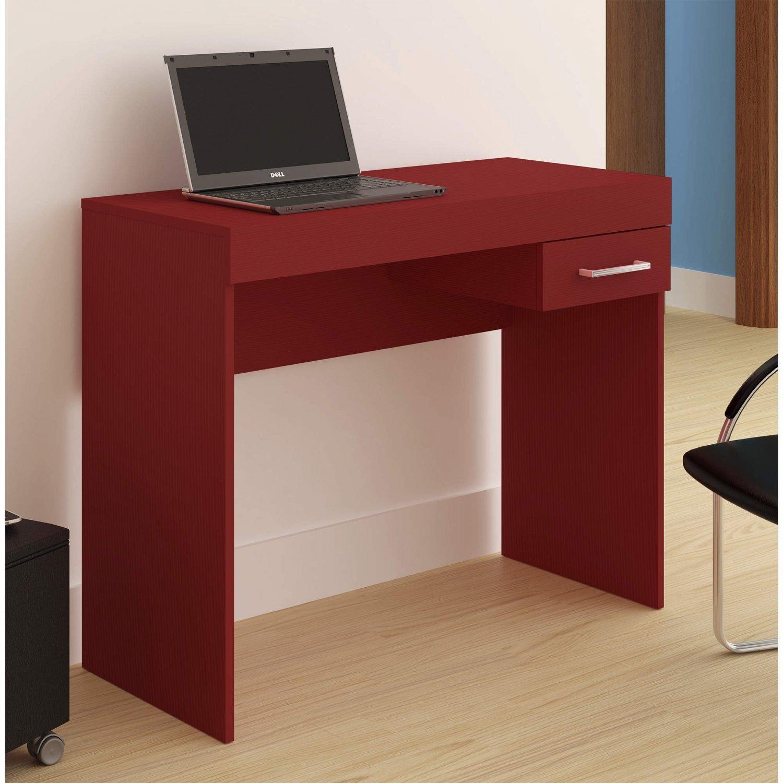 c07c8f879 Mesa para Computador com Gaveta Cooler Artely Vermelho - MadeiraMadeira