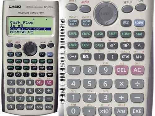 fd4fa7ab72af Calculadora Financeira Casio Fc-100V Garantia de 4 Anos - MadeiraMadeira
