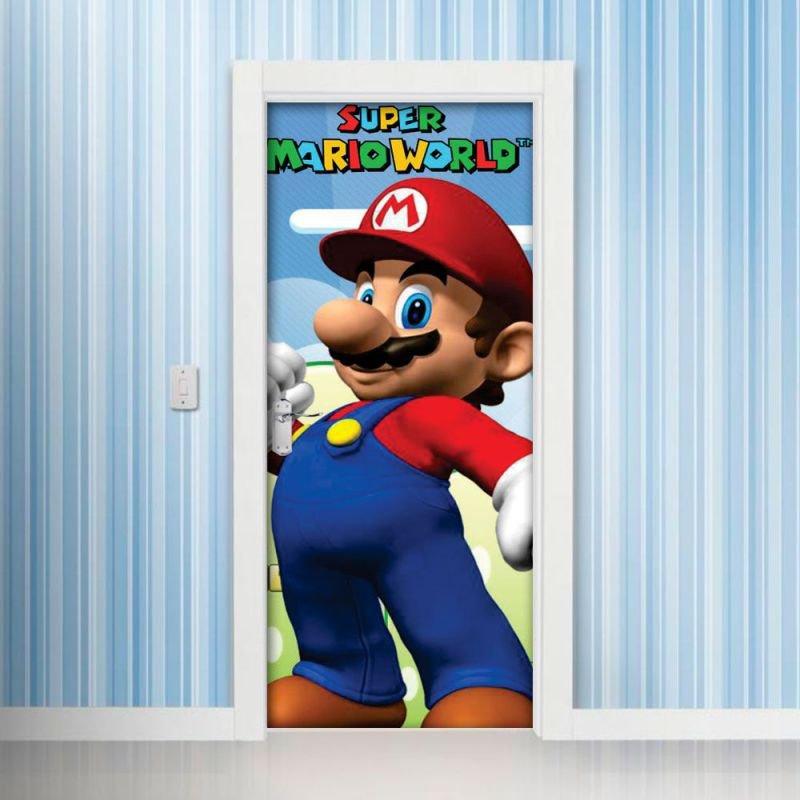 e6fd77bf0 Adesivo Decorativo de Porta - Super Mario World - G 90x210 cm