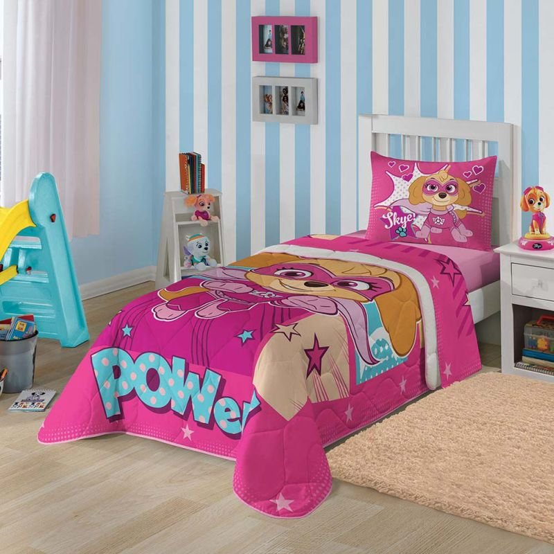 abf0567ec4 Edredom Infantil - Patrulha Canina Rosa - Estampa Cheia - Misto - Lepper