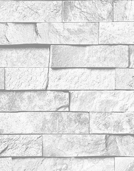 513d42485 Papel de Parede Neonature IV Vinilico Kantai Canjiquinha Pedra Branca