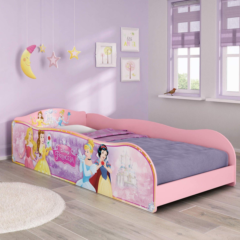 fc7fac9318 Cama Infantil Princesas Disney Plus Pura Magia Rosa - MadeiraMadeira
