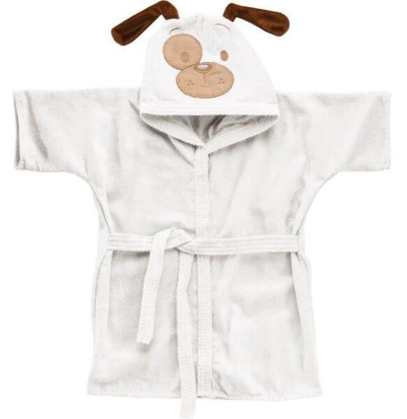 ce708cb4d77eb5 Roupão Baby com capuz bordado - Várias Cores - Branco - PP(6 meses a 2 anos)
