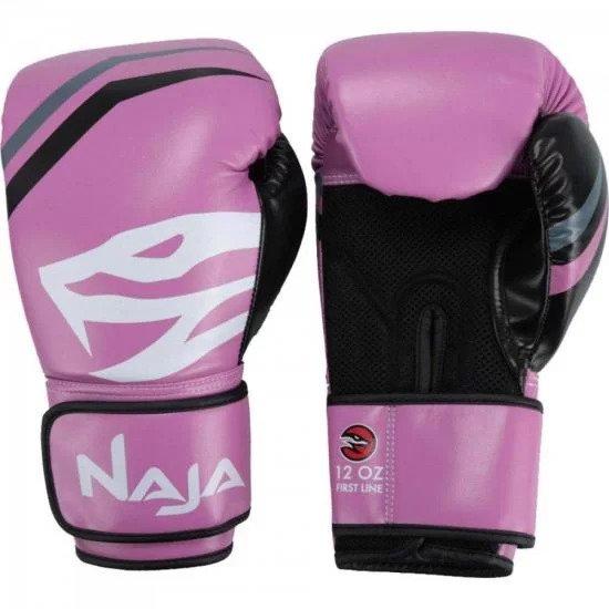 204070d30 Luvas de Boxe Adulto FIRST 12-OZ Rosa Naja - MadeiraMadeira