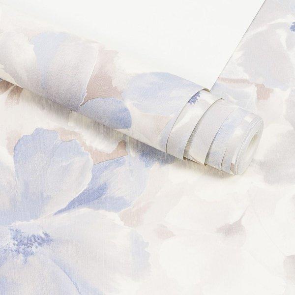 99cb36c40 Papel de Parede Importado Vinílico Lavável Textura em Relevo Floral 90206
