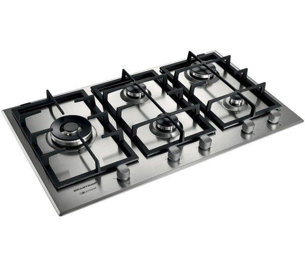 b2ac35abb Cooktop 5 bocas Brastemp Gourmand Inox com duplachama e trempe com ferro  fundido 220V Inox