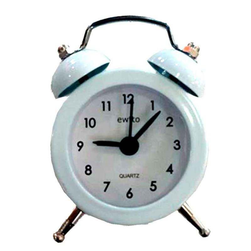 c1caa5e93e8 Mini Relógio Despertador Retrô Branco - MadeiraMadeira