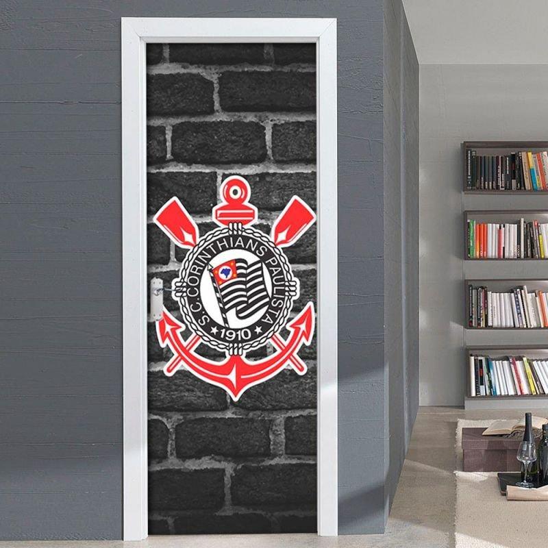 1a8adcef38 Adesivo Decorativo de Porta - Corinthians - P 70x210 cm - MadeiraMadeira