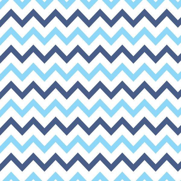 68368ca101fb9 Papel de Parede Adesivo Chevron Horizontal Azul Claro e Escuro 10mx58cm