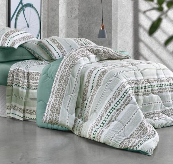 5048cf963b Edredom Casal Premier Malha Green Fashion Altenburg