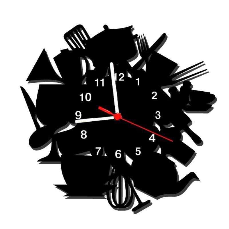 e38c7eabf31 Relógio de Parede Decorativo - Modelo Bagunça na Cozinha ...