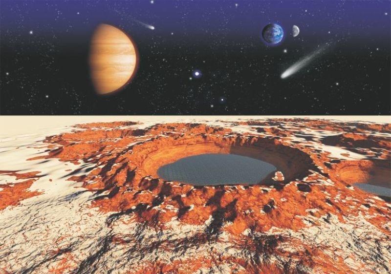 8aba00b30 Papel De Parede Sistema Solar Planetas Adesivo Espaço GG159 ...