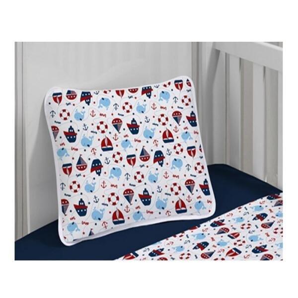 fe88545d32 Jogo de lençol Infantil menino Kinder estampa Naval 90cm x 1.70m Azul  Marinho