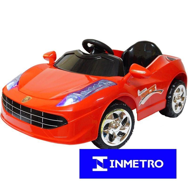 8a0ebeccaf Mini Carro Elétrico Infantil Criança Bateria 6V Importway Ferrari BW005  Bivolt - VERMELHO BW005