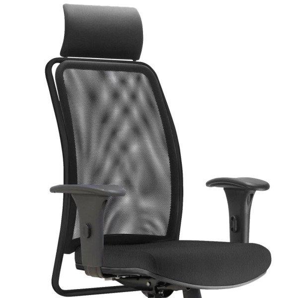 a5d43ac79 50%. OFF. Cadeira de Escritório Giratória Presidente Soul Preto Couro  Sintético Preto - Lyam Decor. Cadeira de ...