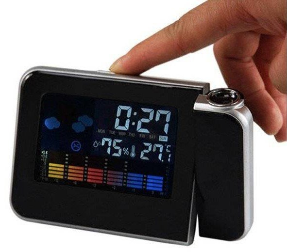 3644564823a Relogio Projetor Hora Desperta Mede Temperatura Led (DS-8190   BSL-REL-53)
