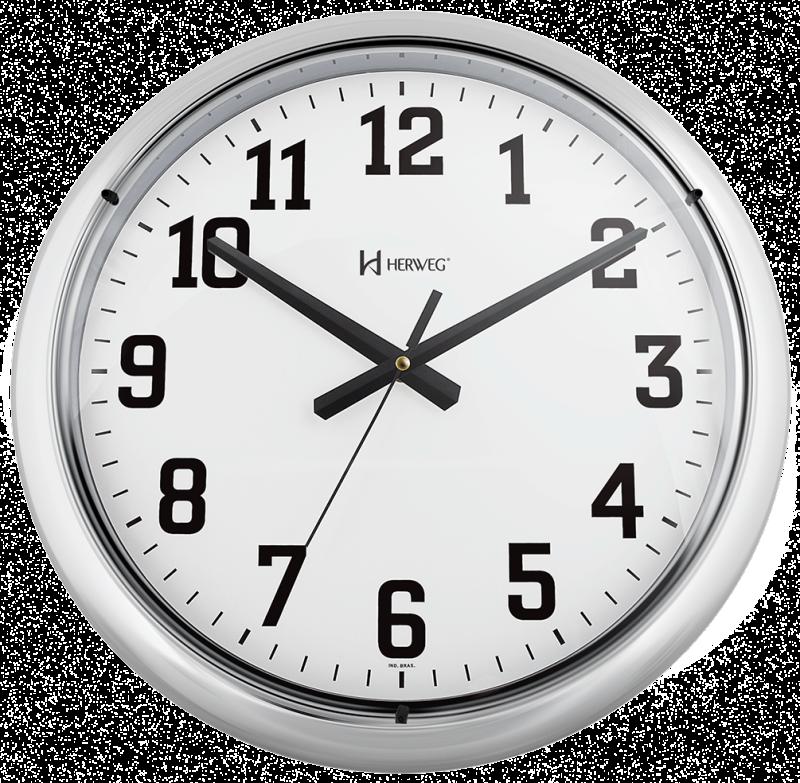 018bad020b5 Relógio de Parede 40 cm Cromado Grande Original Herweg - MadeiraMadeira