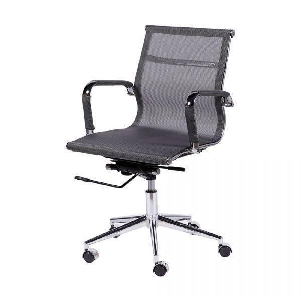 8797c47914 Cadeira de Escritório Or Design Eames Tela Baixa Giratória Cinz.